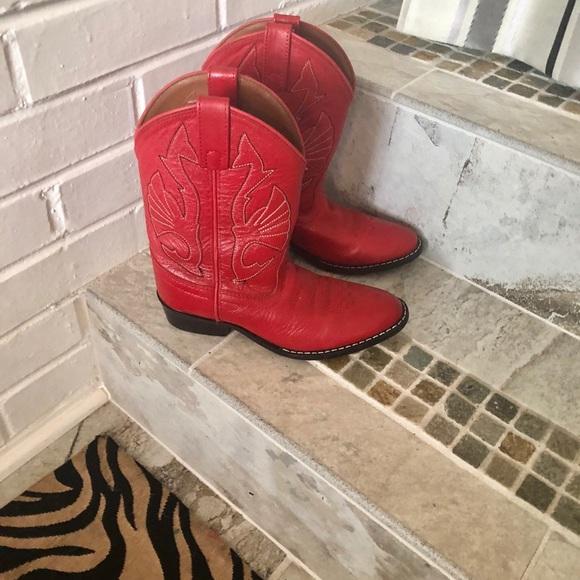 Classic Kids Red Cowboy Boots   Poshmark